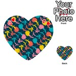 Colorful Floral Pattern Playing Cards 54 (Heart)  Front - HeartQ