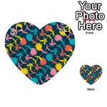 Colorful Floral Pattern Playing Cards 54 (Heart)  Front - Spade5