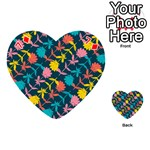 Colorful Floral Pattern Playing Cards 54 (Heart)  Front - Diamond7