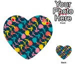 Colorful Floral Pattern Playing Cards 54 (Heart)  Front - Diamond10
