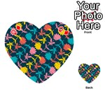 Colorful Floral Pattern Playing Cards 54 (Heart)  Front - DiamondQ