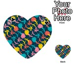 Colorful Floral Pattern Playing Cards 54 (Heart)  Front - Club3