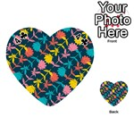 Colorful Floral Pattern Playing Cards 54 (Heart)  Front - Club4