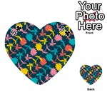 Colorful Floral Pattern Playing Cards 54 (Heart)  Front - Club5
