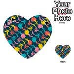 Colorful Floral Pattern Playing Cards 54 (Heart)  Front - Spade7