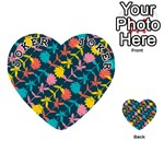 Colorful Floral Pattern Playing Cards 54 (Heart)  Front - Joker1