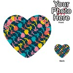 Colorful Floral Pattern Playing Cards 54 (Heart)  Front - Joker2
