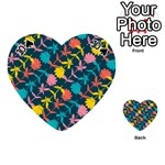 Colorful Floral Pattern Playing Cards 54 (Heart)  Front - Spade10