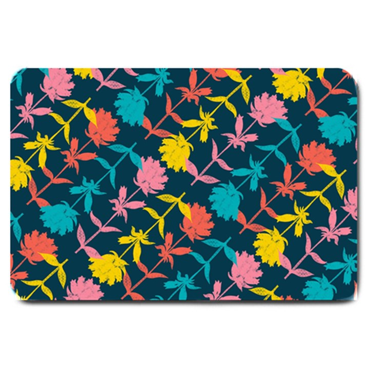 Colorful Floral Pattern Large Doormat