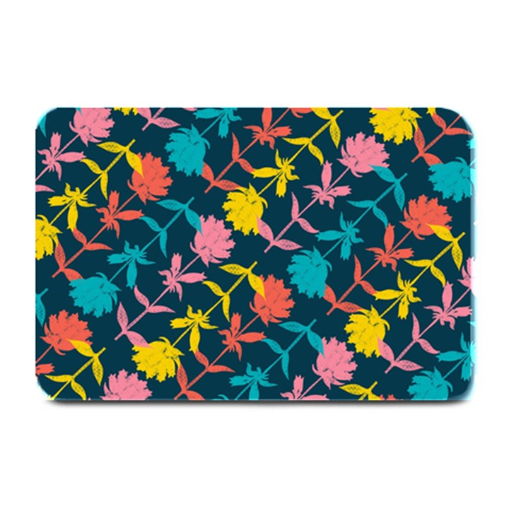 Colorful Floral Pattern Plate Mats