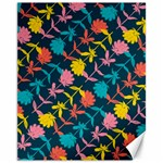 Colorful Floral Pattern Canvas 11  x 14   14 x11 Canvas - 1