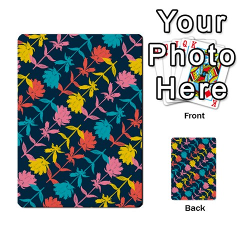 Colorful Floral Pattern Multi-purpose Cards (Rectangle)