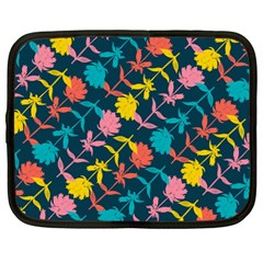 Colorful Floral Pattern Netbook Case (large)