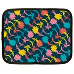 Colorful Floral Pattern Netbook Case (Large) Front