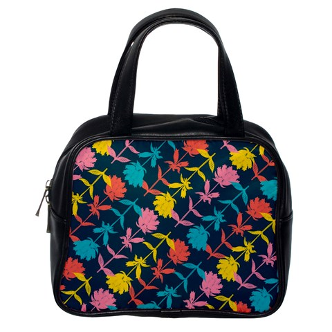 Colorful Floral Pattern Classic Handbags (One Side)