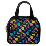 Colorful Floral Pattern Classic Handbags (One Side) Front