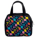 Colorful Floral Pattern Classic Handbags (2 Sides) Front