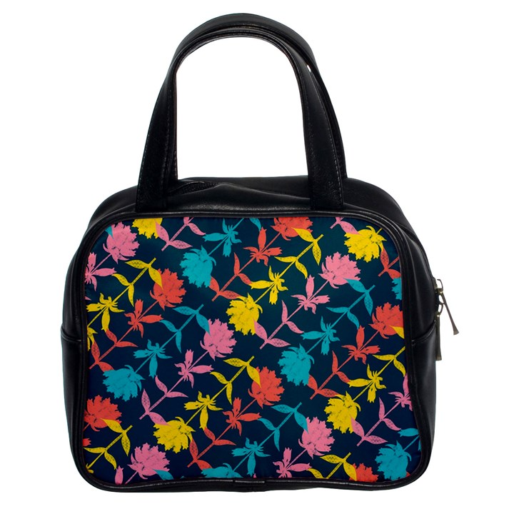 Colorful Floral Pattern Classic Handbags (2 Sides)