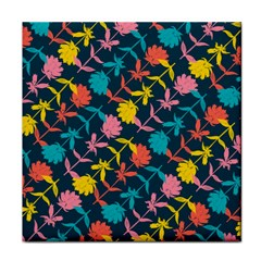 Colorful Floral Pattern Face Towel