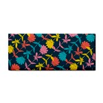 Colorful Floral Pattern Hand Towel Front