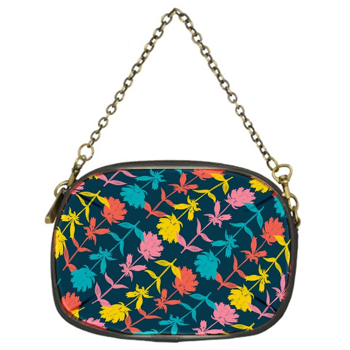 Colorful Floral Pattern Chain Purses (One Side)