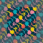 Colorful Floral Pattern Mini Canvas 4  x 4  4  x 4  x 0.875  Stretched Canvas