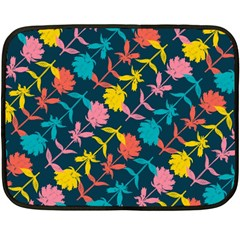 Colorful Floral Pattern Double Sided Fleece Blanket (Mini)