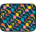 Colorful Floral Pattern Double Sided Fleece Blanket (Mini)  35 x27 Blanket Back