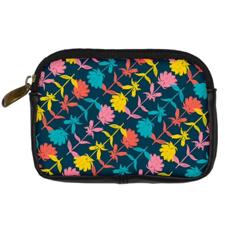 Colorful Floral Pattern Digital Camera Cases