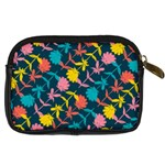 Colorful Floral Pattern Digital Camera Cases Back