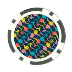 Colorful Floral Pattern Poker Chip Card Guards (10 Pack)