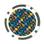 Colorful Floral Pattern Poker Chip Card Guards (10 pack)  Back