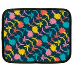 Colorful Floral Pattern Netbook Case (XL)  Front