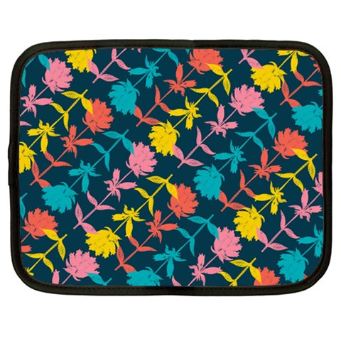 Colorful Floral Pattern Netbook Case (XXL)