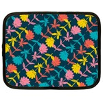 Colorful Floral Pattern Netbook Case (XXL)  Front