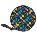 Colorful Floral Pattern Classic 20-CD Wallets Front