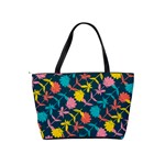Colorful Floral Pattern Shoulder Handbags Back