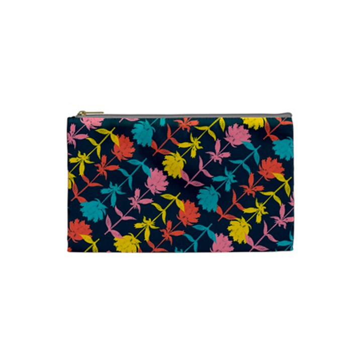 Colorful Floral Pattern Cosmetic Bag (Small)