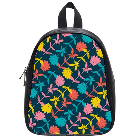 Colorful Floral Pattern School Bags (Small)