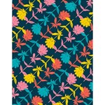 Colorful Floral Pattern Large Memo Pads 4.125 x5.5  Memopad