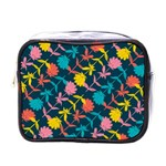 Colorful Floral Pattern Mini Toiletries Bags Front