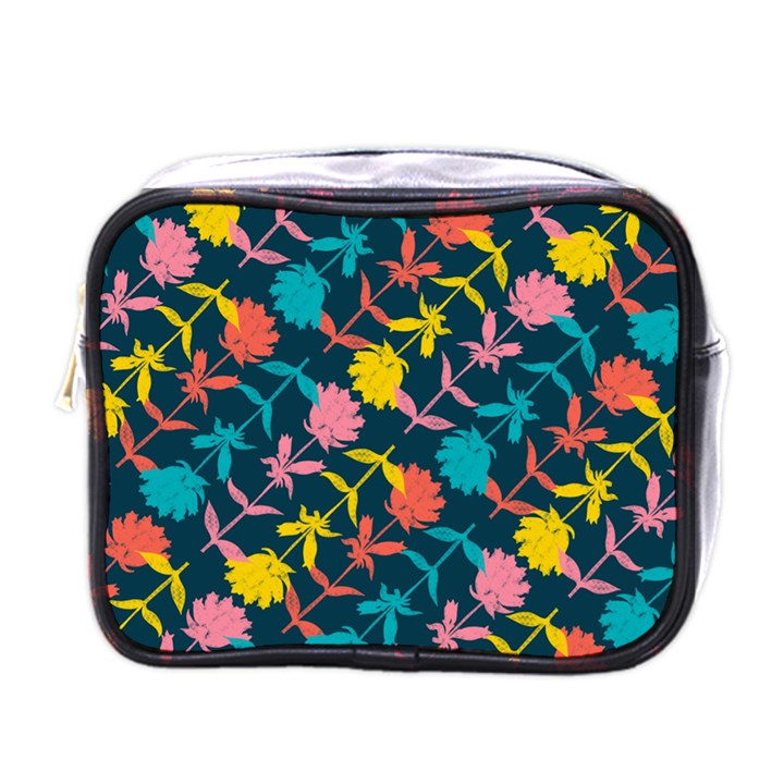 Colorful Floral Pattern Mini Toiletries Bags