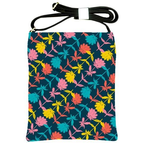Colorful Floral Pattern Shoulder Sling Bags