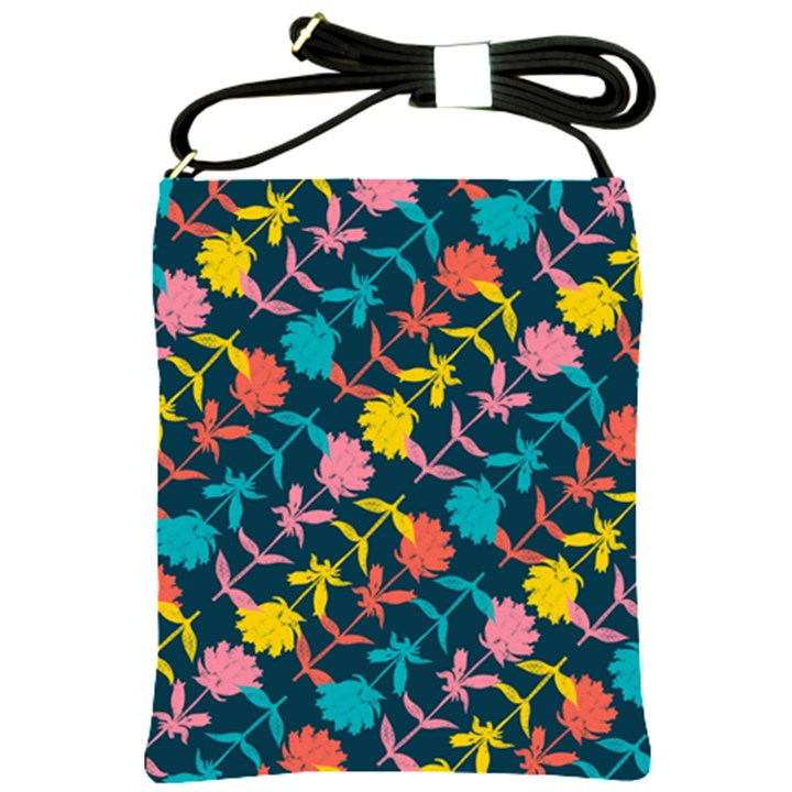 Colorful Floral Pattern Shoulder Sling Bags