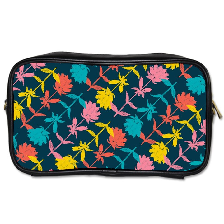 Colorful Floral Pattern Toiletries Bags