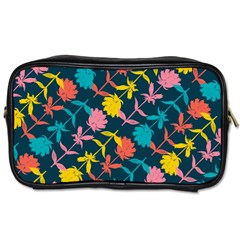 Colorful Floral Pattern Toiletries Bags 2-Side