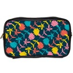 Colorful Floral Pattern Toiletries Bags 2-Side Back
