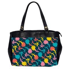 Colorful Floral Pattern Office Handbags (2 Sides)