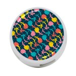Colorful Floral Pattern 4-Port USB Hub (One Side) Front