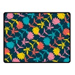Colorful Floral Pattern Fleece Blanket (Small) 50 x40 Blanket Front